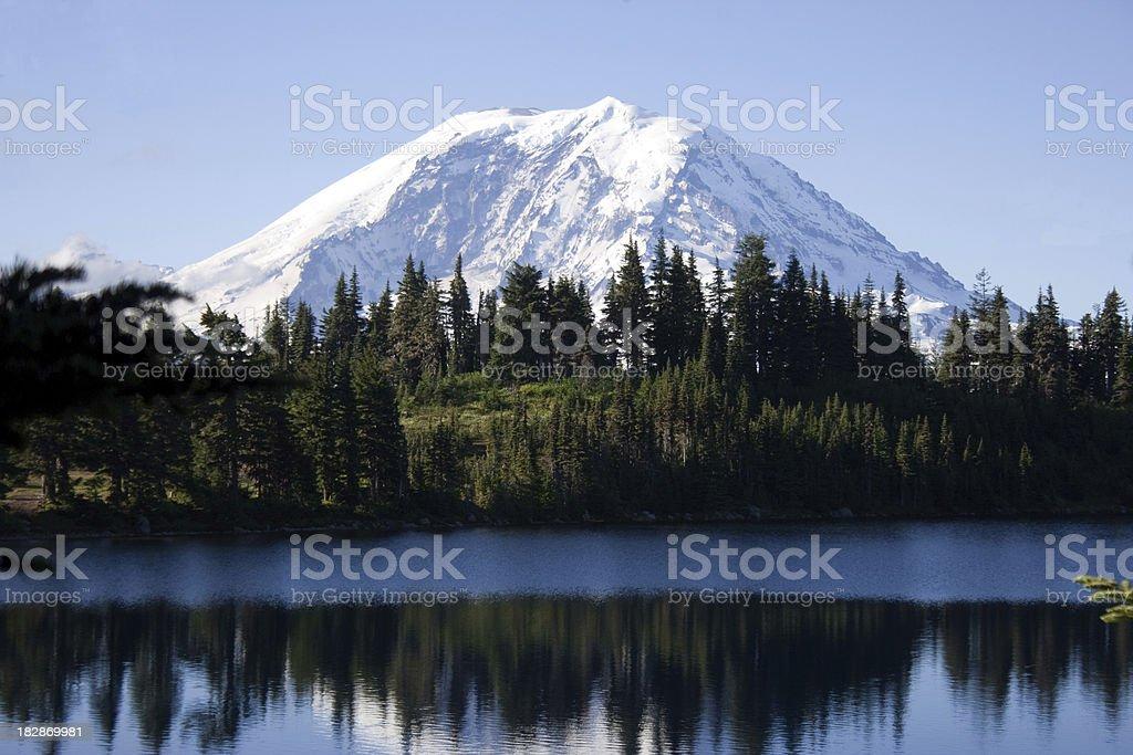 Mount Rainier from Summit Lake royalty-free stock photo