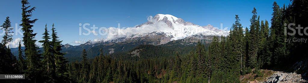Mount Rainier Panoramic royalty-free stock photo