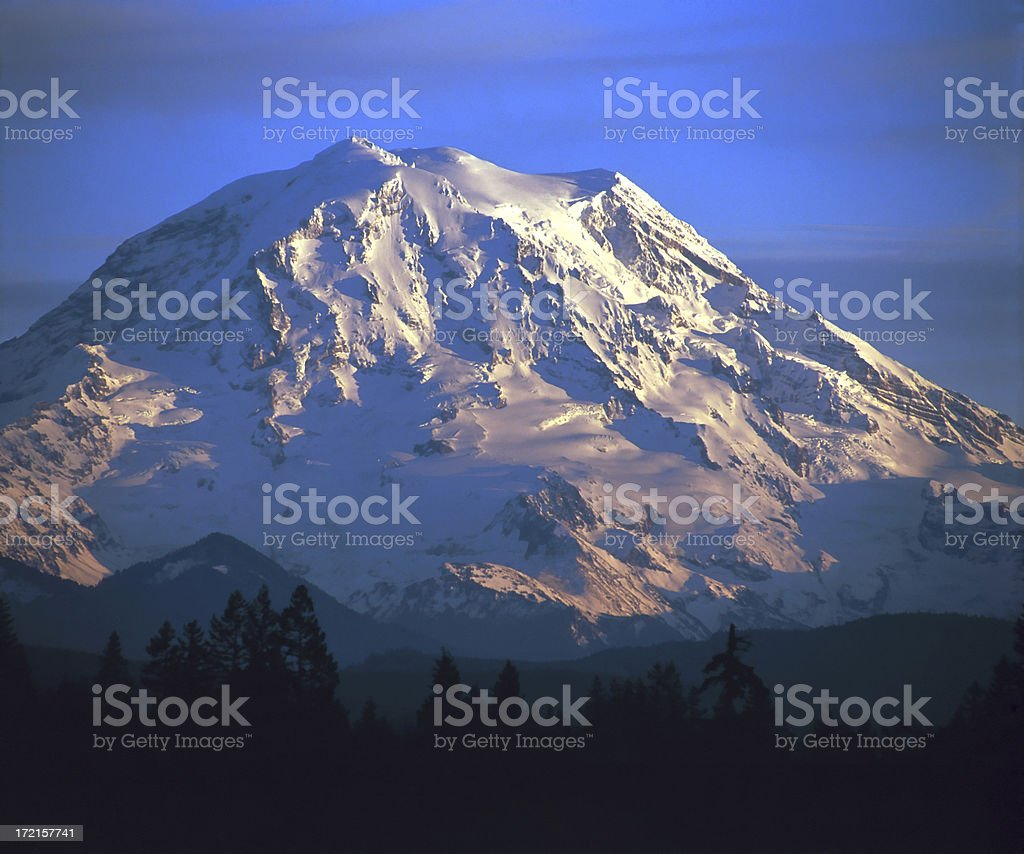 Mount Rainier Sunset 645B royalty-free stock photo