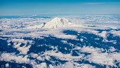Mount Rainier with Distant Mount St. Helens