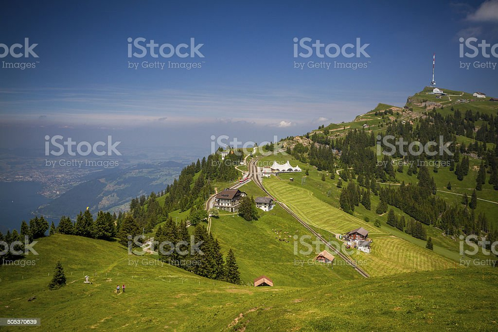 Mount Rigi - The queen of mountains stock photo