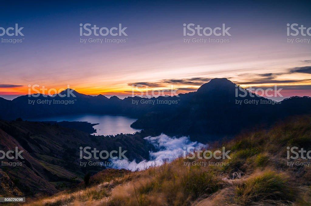 Гора Rinjani Стоковые фото Стоковая фотография
