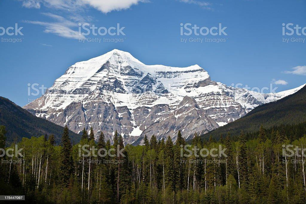 Mount Robson in Kanada stock photo
