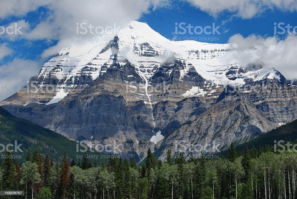 Mount Robson, Jasper National Park, Canada stock photo