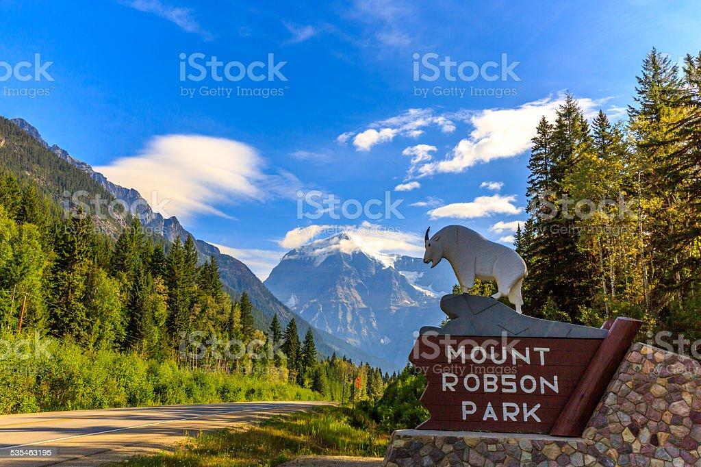 Mount Robson Park stock photo