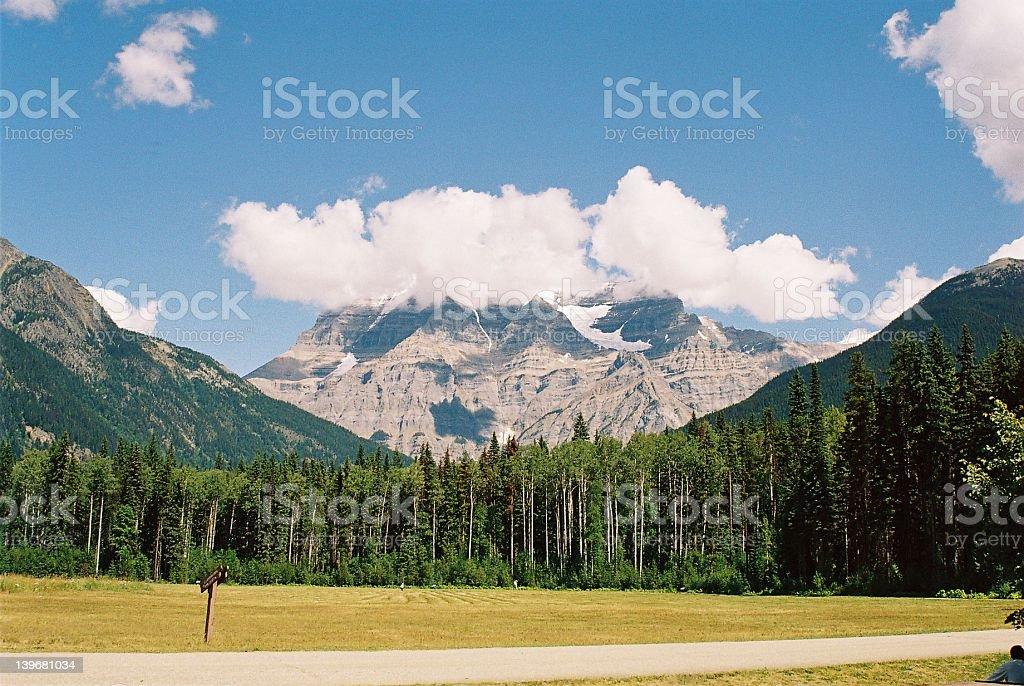 Mount Robson royalty-free stock photo