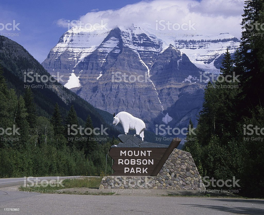 Mount Robson Provincial Park stock photo