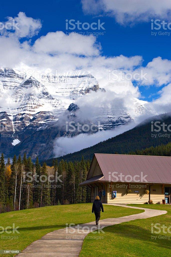 Mount Robson Tourist Center stock photo