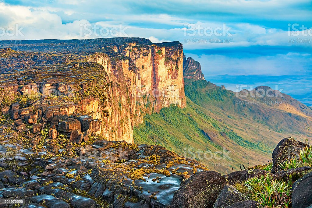 Mount Roraima Venezuela Brazil Guyana stock photo