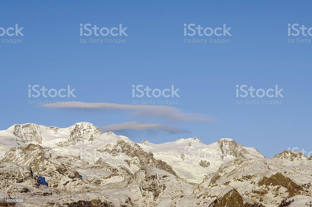 Mount Rosa stock photo