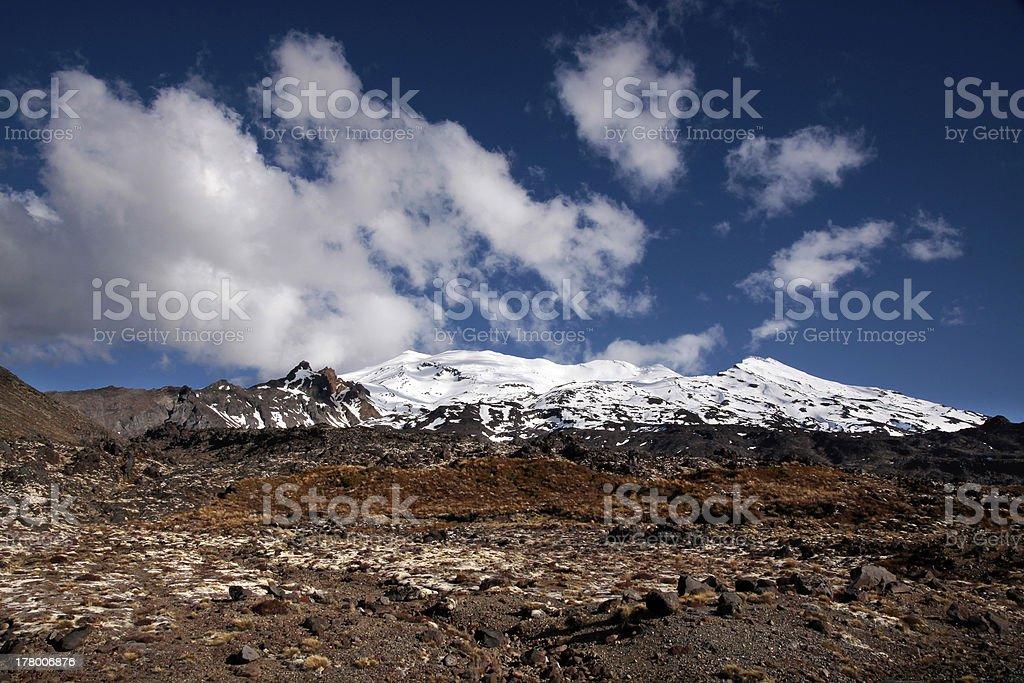 Mount Ruapehu in the  Tongariro National Park royalty-free stock photo