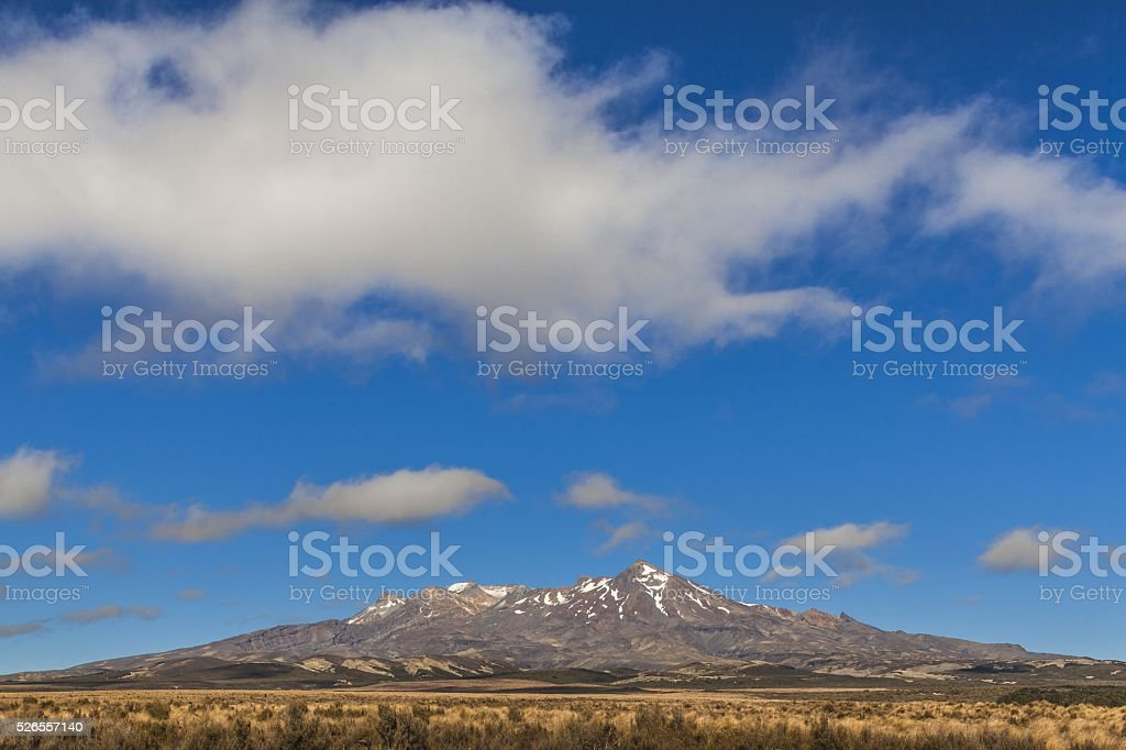 Mount Ruapehu - new zealand stock photo
