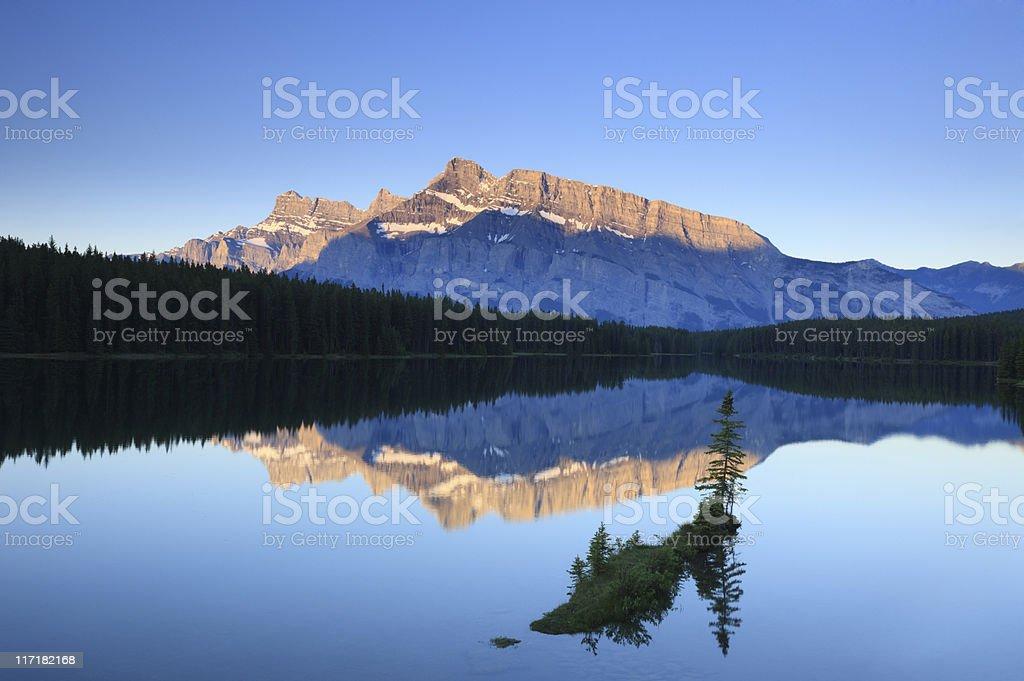 Mount Rundle, Banff royalty-free stock photo