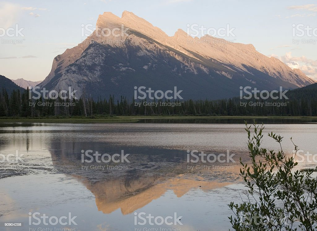 Mount Rundle in the Evening Light stock photo