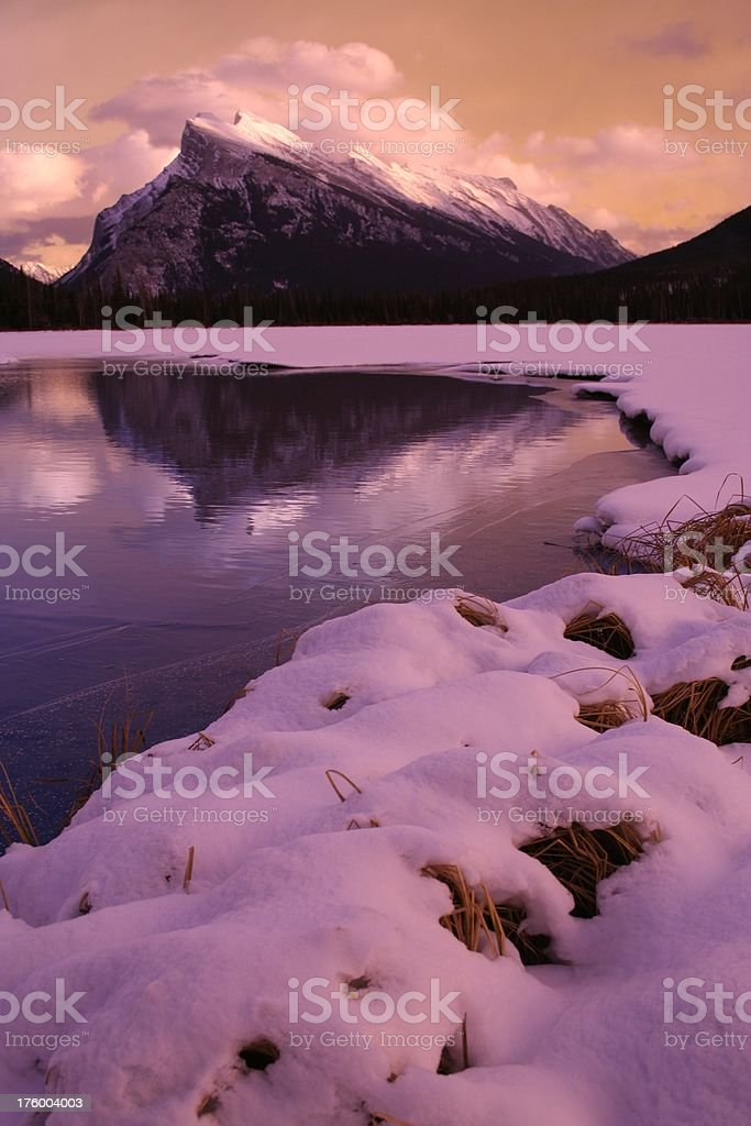 Mount Rundle stock photo
