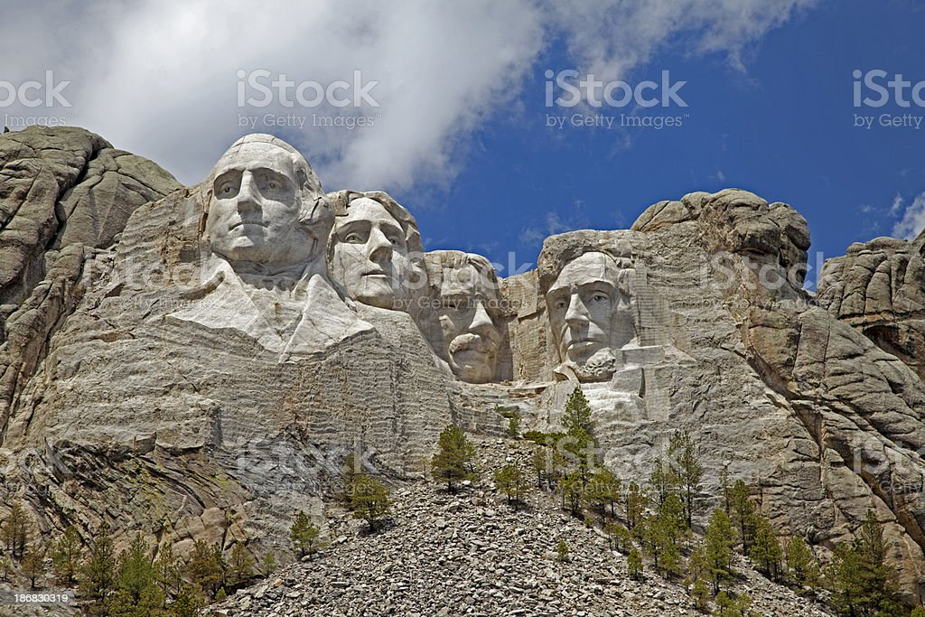 Mount Rushmore Closeup stock photo