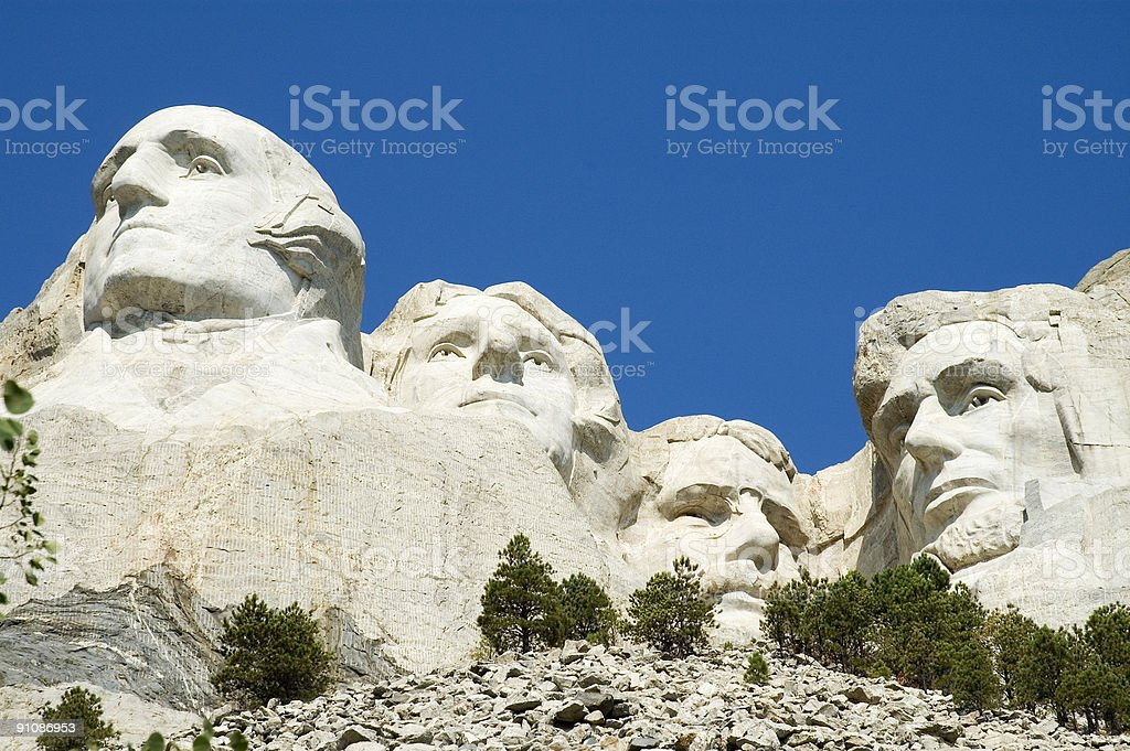 Mount Rushmore Close-up stock photo