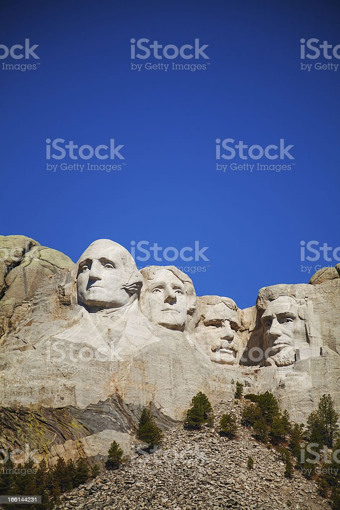 Mount Rushmore monument in South Dakota royalty-free stock photo
