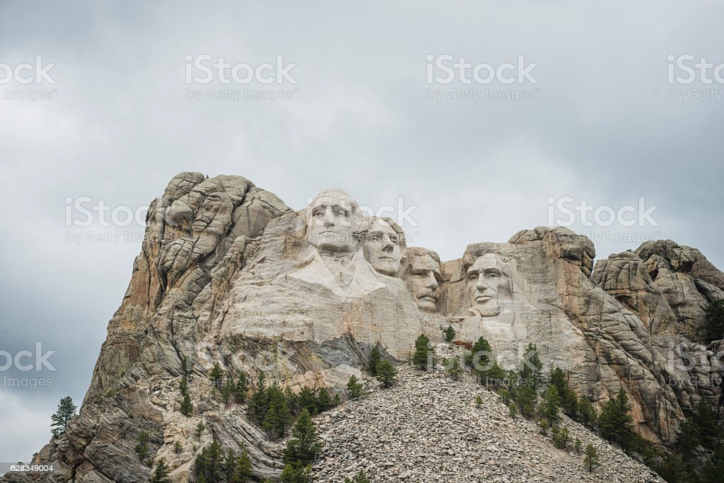 Mount Rushmore National Landmark USA Presidents in Mountain stock photo