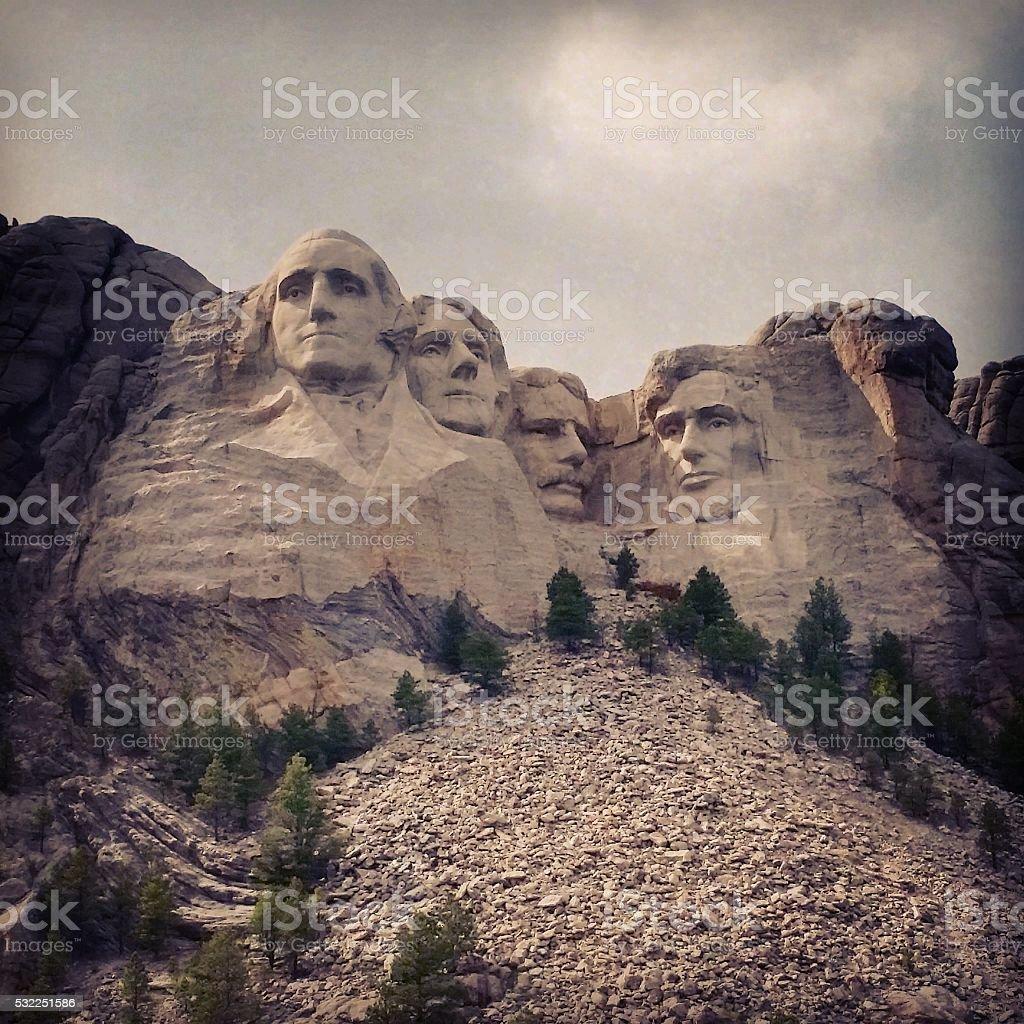 Mount Rushmore National Landmark USA Presidents stock photo