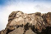 Mount Rushmore National Memorial Park in South Dakota, USA. Scul