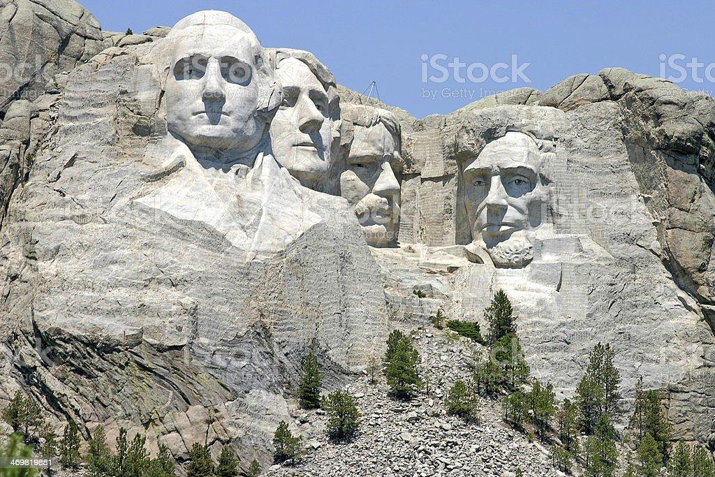 Mount Rushmore National Memorial Sculpture stock photo