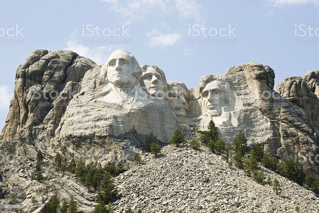 Mount Rushmore National Monument 9 royalty-free stock photo