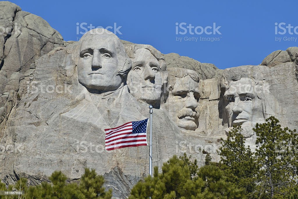 Mount Rushmore National Monument royalty-free stock photo