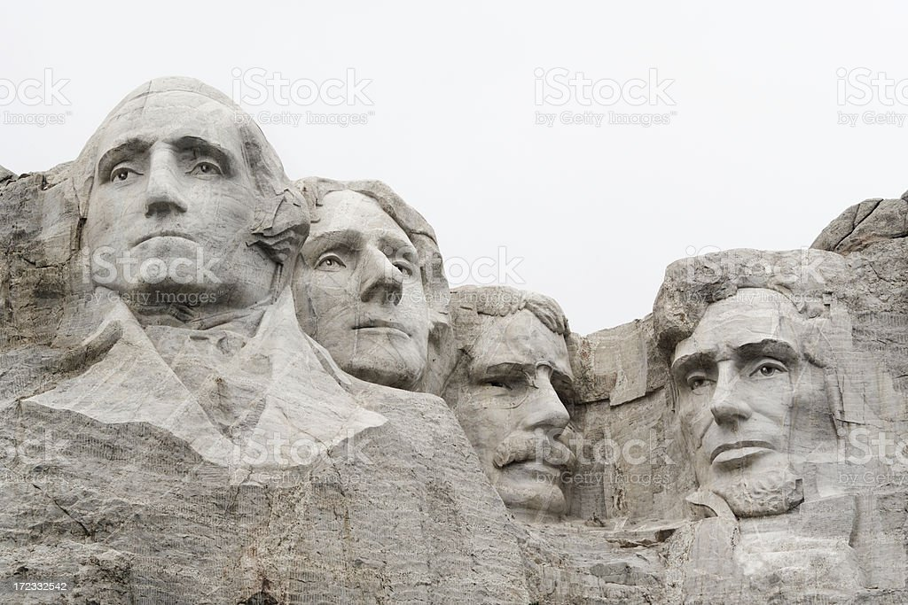 Mount Rushmore National Monument with USA Presidents in Mountain Stone royalty-free stock photo
