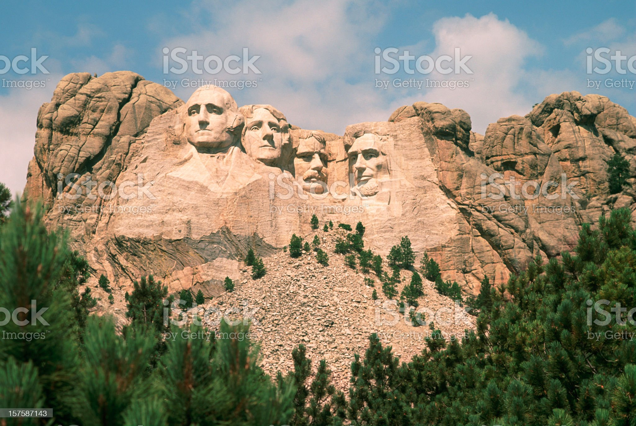 Mount Rushmore on a beautiful summer day. royalty-free stock photo