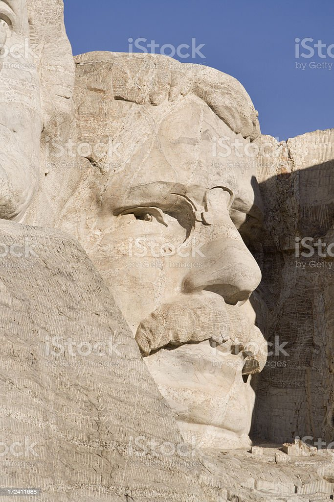 Mount Rushmore - Roosevelt stock photo