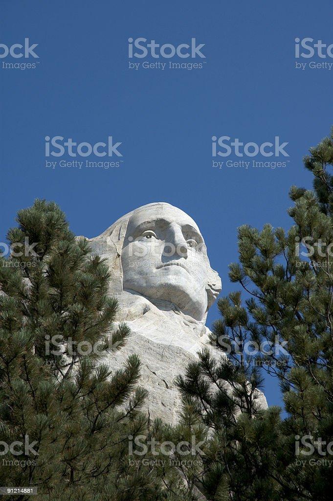Mount Rushmore Washington Close-up stock photo