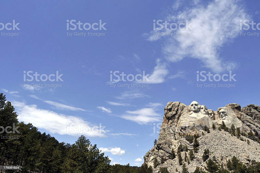 Mount Rushmore wide shot royalty-free stock photo
