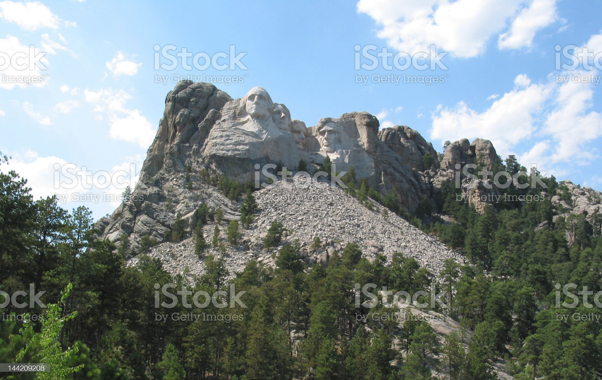 Mount Rushmore with Clouds royalty-free stock photo