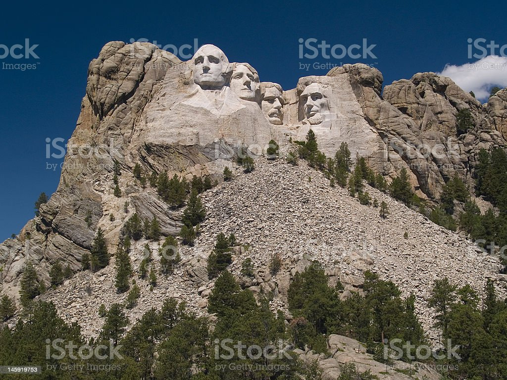 Mount Rushmore with Deep Sky royalty-free stock photo