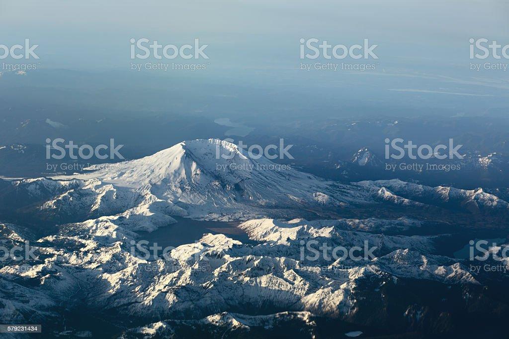 Mount Saint Helens Aerial View stock photo