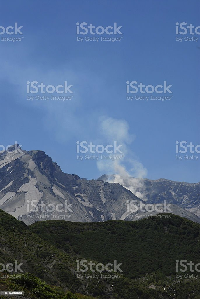 Mount Saint Helens Ash Plume royalty-free stock photo