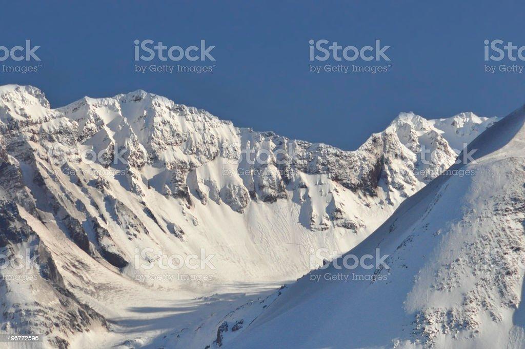 Mount Saint Helens summit stock photo