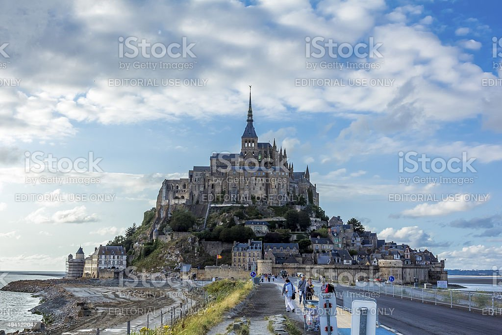 Mount Saint Michel in Normandy France stock photo
