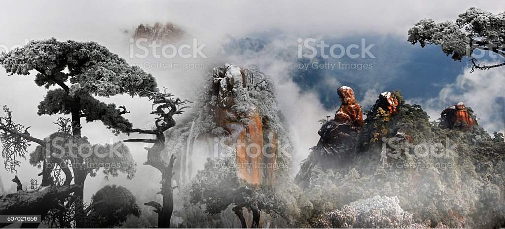 Mount Sanqing royalty-free stock photo
