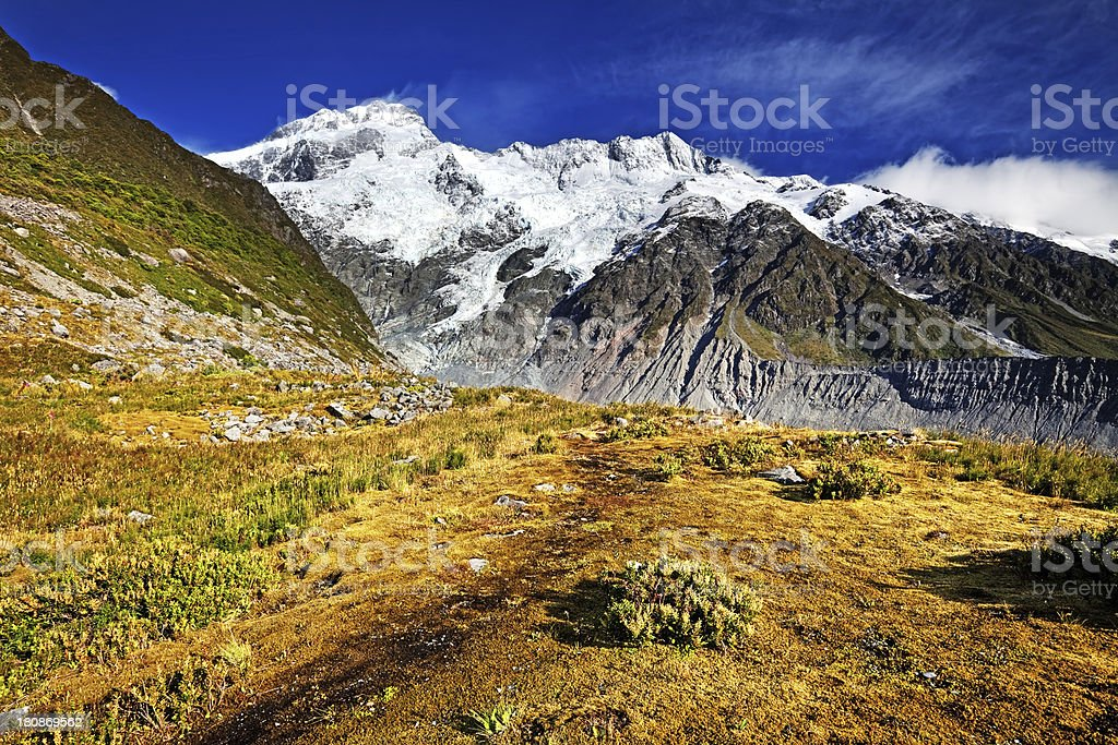 Mount Sefton in New Zealand royalty-free stock photo