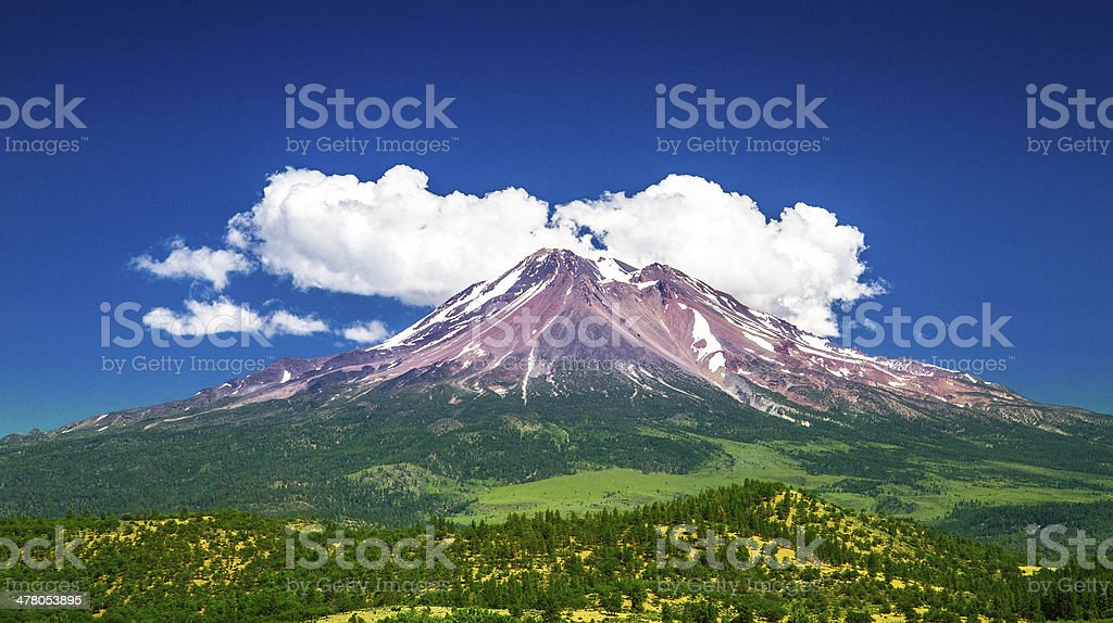 Mount Shasta, CA stock photo