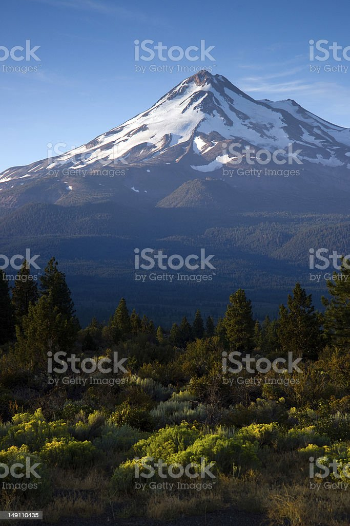 Mount Shasta Cascade Mountains of Northern California United States stock photo
