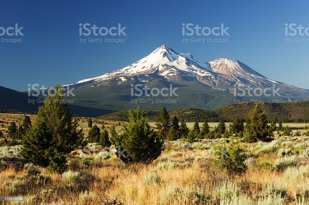 Mount Shasta royalty-free stock photo