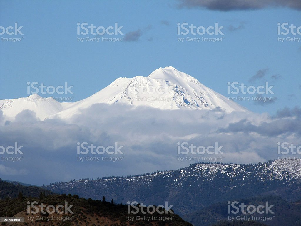 Mount Shasta The Volcano In California stock photo