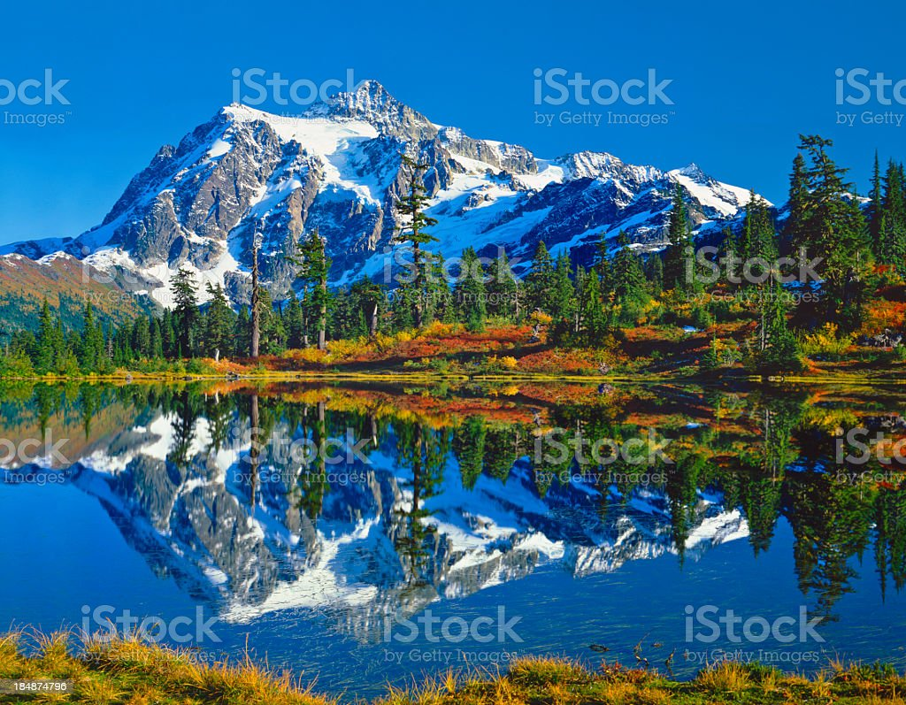 Mount Shuksan Washington stock photo