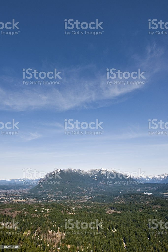 Mount Si and the Snoqualmie Valley stock photo