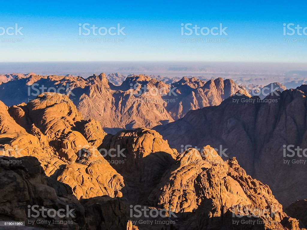 Mount Sinai Egypt stock photo