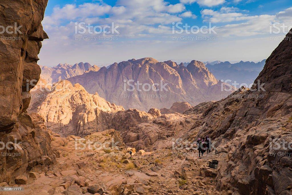 Mount Sinai. Egypt. stock photo