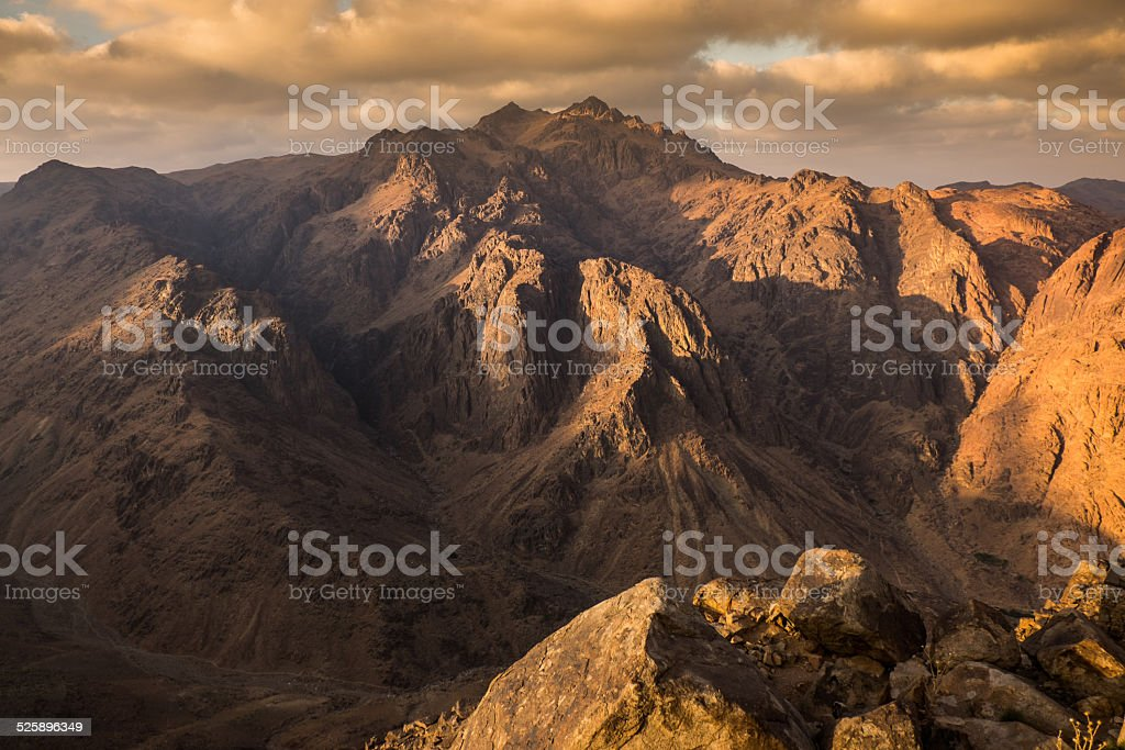 Mount Sinai. Egypt. stock photo